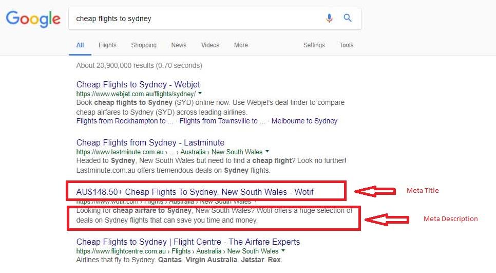 Google SERP Title and Description